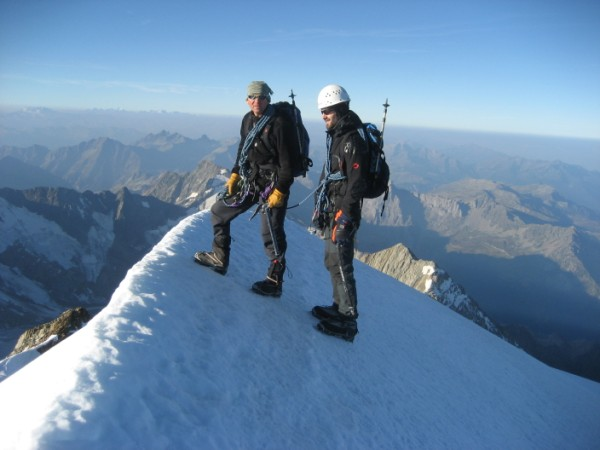 Acclimatising on the Traverse of Done de Mirage