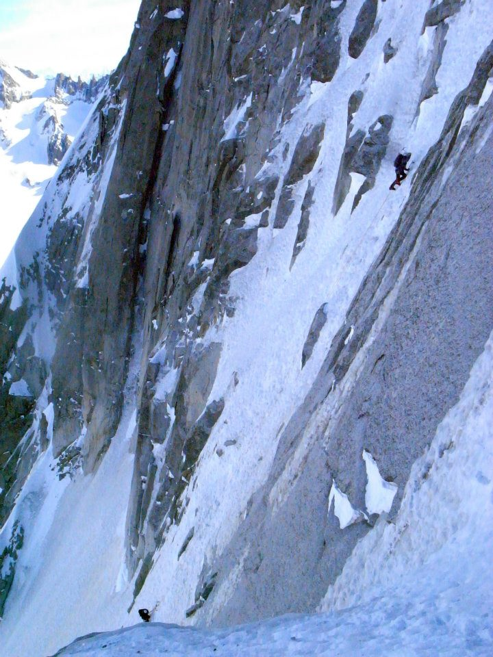 Guiding the Ginat on the Doites, Chamonix 2012