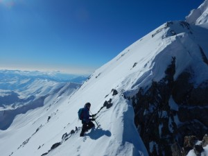 Ski Tour to summits and climb surrounding peaks